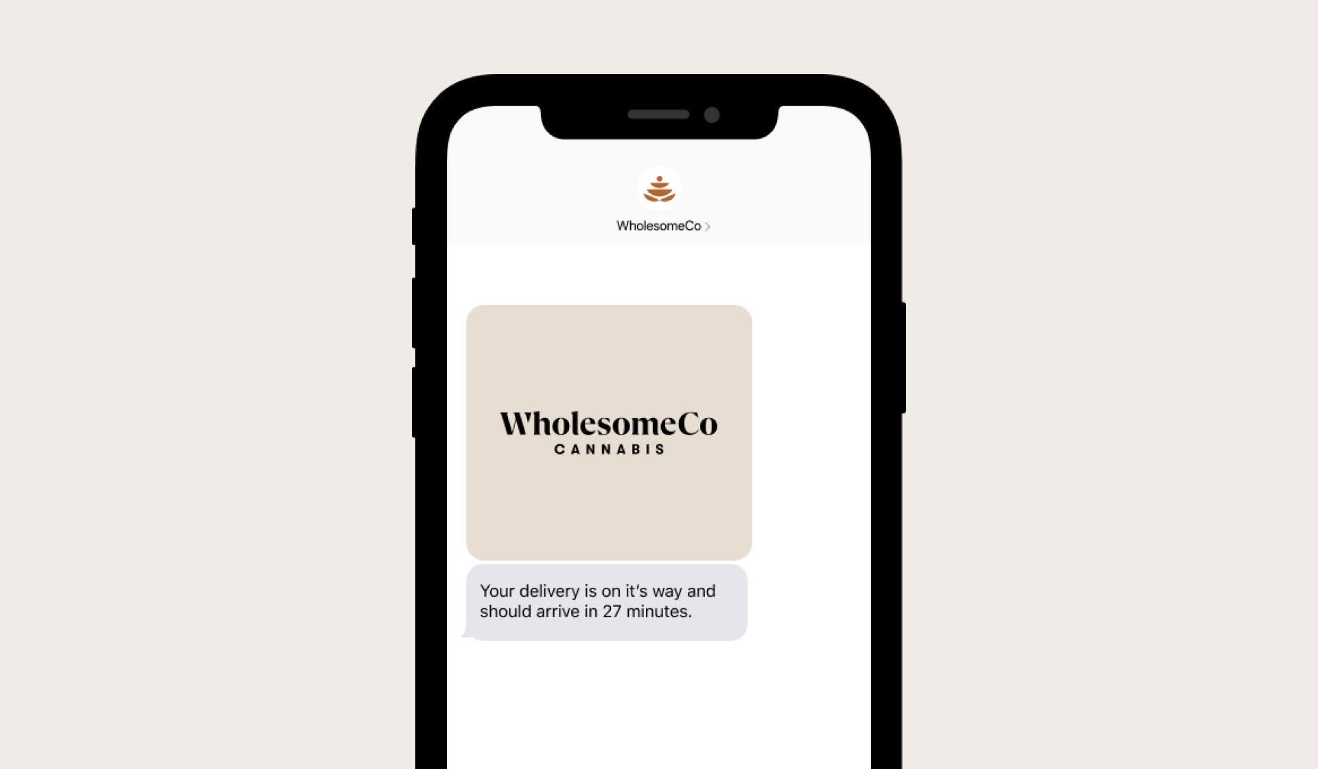 WholesomeCo Delivery Notification